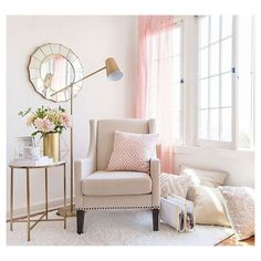 Luxury & Glam Chair and Décor Living Room Nook : Target