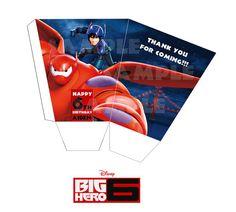Printable Disney Big Hero 6 Popcorn Box Favor box by PeekaOwl