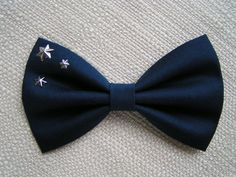 Hair Bow-navy blue and stars, Big hair bow, Hair clips, Hair bows for women kids and teens