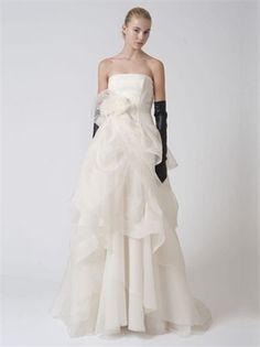 White Organza Vintage Wedding Dress