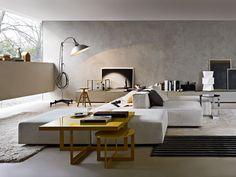 Sitzpuff / Couchtisch DOMINO by MOLTENI & C. Design Nicola Gallizia