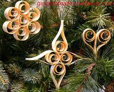 Make Your Own Christmas Ornaments | Make Your Very Own Scandinavian Shaved Wood ... | Christmas Ornaments