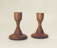 chestnut candlestick - South River Studio - woodturning