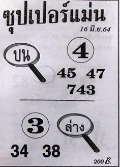 กำลังมาแรง หวยซุปเปอร์แม่น งวดวันที่ 16/6/64 ... แนวทางหวยแม่นๆเข้าทุกงวด เลขเด็ดหวยซุปเปอร์แม่น เลขเด่นเลขดังแจกฟรีแล้ววันนี้