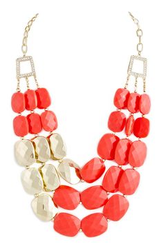coral glam necklace. #modeets