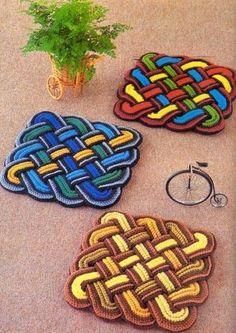 Delicadezas en crochet Gabriela: Muchisimos modelos de diseños de individuales