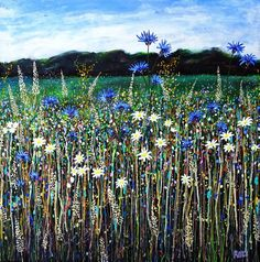 Popular Paintings, English Summer, Teaching Art, Acrylic Painting Canvas, Trees To Plant, Impressionist, Wild Flowers, The Past, Colours