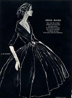 tammy17tummy: Hubert de Givenchy 1954