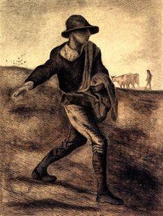 Sower (after Millet), 1881 Vincent van Gogh