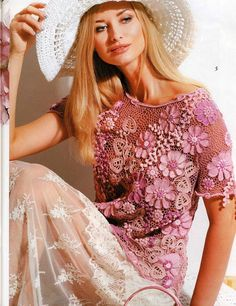 Irish crochet &: IRISH LACE BLOUSES 2...........2 БЛУЗЫ ИРЛАНДСКИМ ...