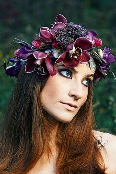Floral Crowns Designed by Stacy K Floral with Hair and Makeup by Mary Wilmot of Addicted Artistry captured by Brandon Vick Photography