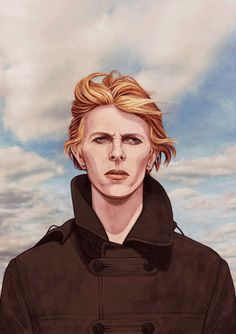 The Man Who Fell To Earth - Helen Green Illustration Daft Punk, Helen Green, David Bowie Art, Labrynth, Sam Sam, Ziggy Stardust, Major Tom, David Jones, The Man