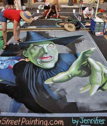 At least there are no flying monkeys! Jennifer Chaparro in Sarasota, Florida www.amazingstreetpainting.com