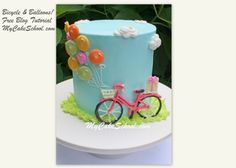 Gorgeous cake tutorial with bike template. Just love it!!!