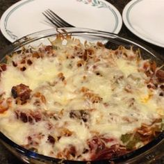 When you're craving pizza but just want to throw a casserole in the oven, this recipe is the answer.  Allrecipes.com