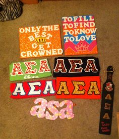 Come see our wide selection of apparel for Alpha Sigma Alpha. Alpha Sigma Alpha, Sigma Kappa, Delta Gamma, Sorority Sisters, Sorority Life, Sorority Crafting, Greek Crafts, Diy And Crafts, Arts And Crafts