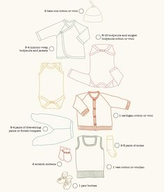 A clothing checklist that will keep your baby covered for the first few weeks an. - Baby Baby Home Hippie Baby Clothes, Winter Baby Clothes, Knitted Baby Clothes, Organic Baby Clothes, Carters Baby Clothes, Baby Tie, Baby Baby, Childrens Sewing Patterns, Gender Neutral Baby Clothes