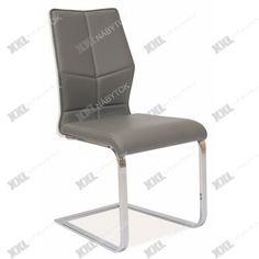 Jedálenská stolička H-422 - chróm/sivá/biely lak
