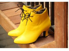 Boot  Retro  YELLOW by DonnaAlzira on Etsy, $102.00