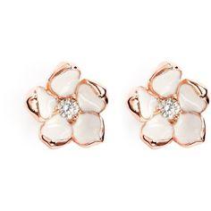 Shaun Leane Cherry blossom diamond earrings found on Polyvore