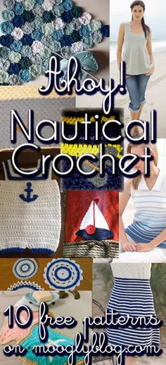 Nautical Crochet! Get the hot look in 10 cool (and free!) patterns! #crochet