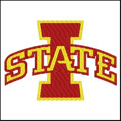 Iowa State Cyclones Embroidery Design Pattern for $5.00 #onselz