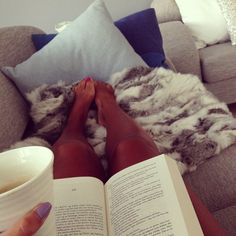 reading a book + drinking coffee + lounging around = my obsessions (:
