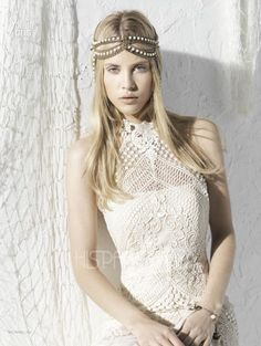 Modelo Montpellier Vestidos de Novia Ibicencos Yolan Cris 2013. Coleccion  Seven Promises. Vestidos Ibicencos f200d480a0f