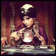 Impress people with some gypsy magic and have fun walking around telling fortunes of your friends.  What you need to do: Get a head scarf, sparkly top, long skirt, and a shawl to drape over your shoulders. Wear lots of gold and flashy jewelry. Create