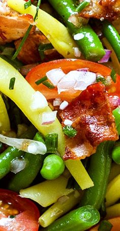 Bean Salad with Bacon, Tomato