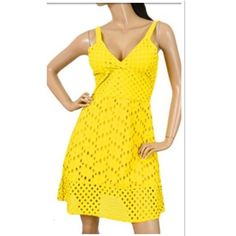 "HPADORABLE COTTON SUNDRESS/COVERUP Pretty vibrant yellow dress FULLY LINED adjustable wide straps and wide elastic band in the back for extra stretch SMALL-Bust 14"" waist 13"" hips 18"" Length 36"" MEDIUM-Bust 14.5"" waist  13"" hips 19.5"" LARGE-Bust 15"" waist 14"" Hips 20"" Boutique Dresses Mini"