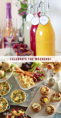 Celebrate your weekend by inviting friends over for brunch and mimosas! A lovely collection of recipes and ideas to delight you and your guests here: