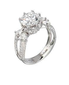 Bergio Bridal Ring: 18 Karat Gold or Platinum with White Princess Cut Diamonds - See more at: http://www.bergio.com/collections/bridal-ring-bb1052/#sthash.pawjkVGl.dpuf