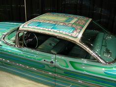 wanna see WILD custom paint. Pretty Cars, Cute Cars, Roof Paint, Old School Cars, Classy Cars, Custom Paint Jobs, Car Painting, Vintage Cars, Dream Cars