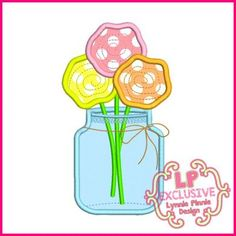 See It All - Flowers in Jar Applique 4x4 5x7 6x10 SVG - Welcome to Lynnie Pinnie.com! Instant download and free applique machine embroidery designs in PES, HUS, JEF, DST, EXP, VIP, XXX AND ART formats.