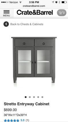 Entryway cabinet