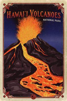 Hawaii Volcanoes National Park Poster