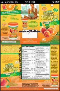 ORAC Score of 8,000!!! #Youngevity Beyond Tangy Tangerine Peach Fusion 2.0