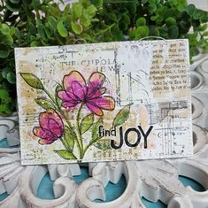 Scrap Savvy Creations: Find Joy Mitsubishi Pencil, Mixed Media Cards, Gold Watercolor, Mixed Media Artists, Christmas In July, Finding Joy, Small Flowers, Hello Everyone, Pattern Paper