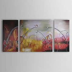 The Violins Oil Painting - Set of 3 - Free Shipping Modern Oil Painting, Oil Painting Abstract, Modern Paintings, Oil Paint Set, Landscape Paintings, Oil Paintings, 3 Piece Art, Abstract Canvas Wall Art, Online Painting