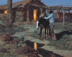 Masters of the American West Fine Art Exhibition and Sale Nocturne, West Art, Cowboy Art, Great Paintings, Country Art, Le Far West, Equine Art, Sports Art, Landscape Art