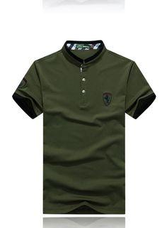 Mens Polo T Shirts, Polo Tees, Men's Polo, Kids Fashion Boy, Mens Fashion, Polo Shirt Design, Shield Logo, Mens Clothing Styles, Shirt Style