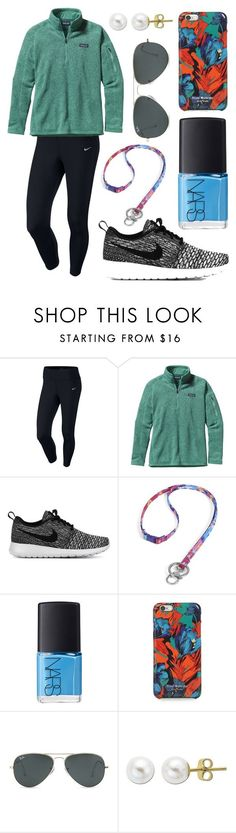 Situation: no motivation by emmacaseyyyy ❤ liked on Polyvore featuring NIKE, Patagonia, Vera Bradley, NARS Cosmetics, Isaac Mizrahi, Ray-Ban and Lord  Taylor