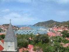 The harbour of the island, in Gustavia, Saint-Barthélemy