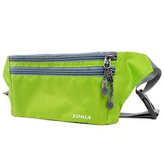 TOOGOO Fashion Sports Hiking Running Belt Waist Bag Pouch Zipper Bag Black+white