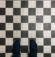 "Hope ur ""checkin"" out this cool mosaic. Vans Classic Slip On, Mosaic, Tile, Cool Stuff, Master Bath, Sneakers, Tennis, Mosaics, Master Bathroom"
