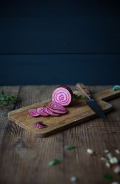 Raw polka beets from Food Styling & Photography workshop with Dagmar's Kitchen
