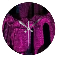 Gothic arches large round wall clock.