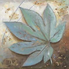 Turquoise Leaf I Prints by Patricia Quintero-Pinto at AllPosters.com