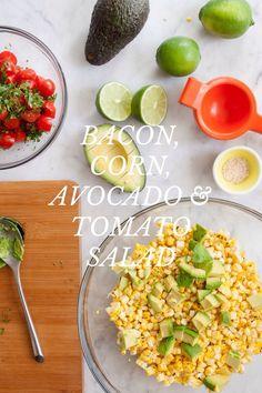 Bacon, Corn, Avocado Tomato Salad/Salsa - @Jennifer